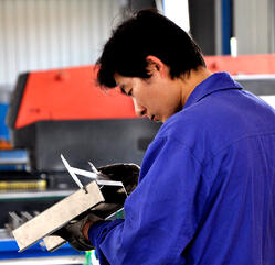 inspecting metalwork in metfab